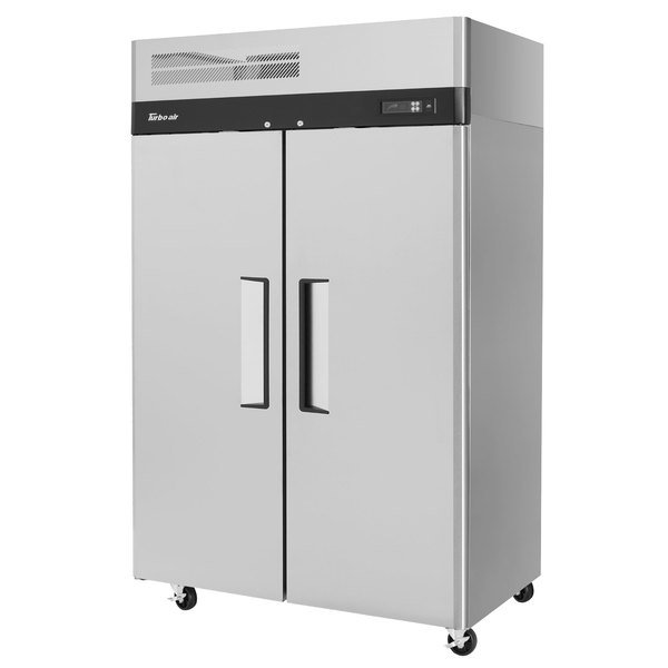 """Turbo Air M3R47-2-N M3 Series 52"""" Solid Door Stainless Steel Reach-In Refrigerator Main Image 1"""