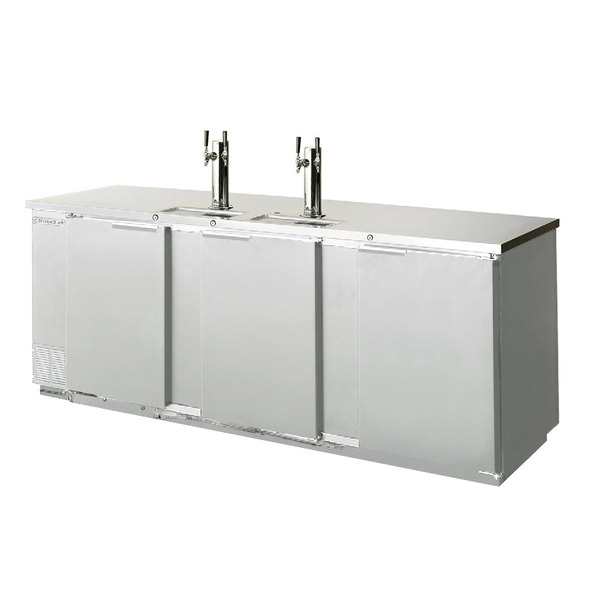 Beverage-Air DD94HC-1-S (2) Double Tap Kegerator Beer Dispenser - Stainless Steel Front, (5) 1/2 Keg Capacity