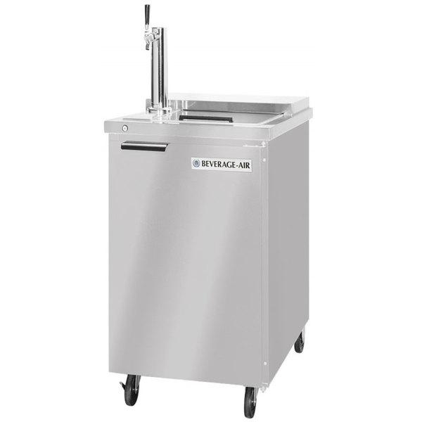 Beverage-Air BM23HC-C-S Single Tap Club Top Kegerator Beer Dispenser - Stainless Steel, (1) 1/2 Keg Capacity Main Image 1