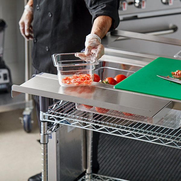 """Metro MS-SE24 Stainless Steel 24"""" Work Surface Extension for 24"""", 30"""", and 48"""" PrepMate MultiStations"""