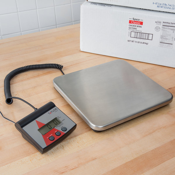Taylor TE220FT 220 lb. Digital Receiving Scale with Remote Display