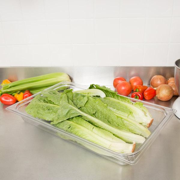 "Carlisle 10200B07 StorPlus Full Size Clear Polycarbonate Food Pan - 2 1/2"" Deep Main Image 2"