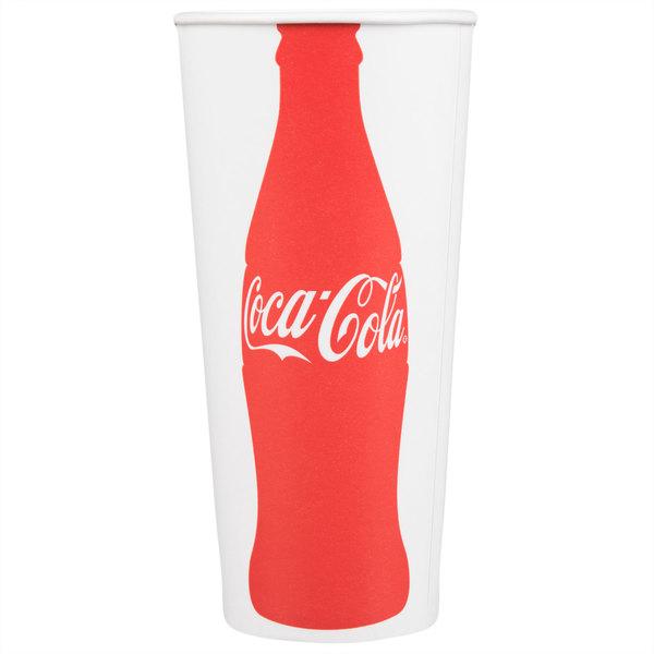 Dart Solo RP4TCB-44047 Coke® 22-24 oz. Poly Paper Cold Cup  - 1000/Case