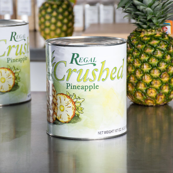 Regal Foods #10 Can Crushed Pineapple - 6/Case