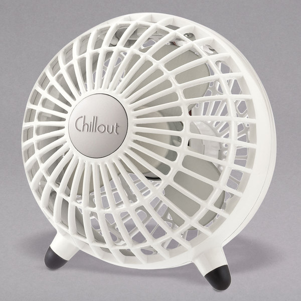 """Honeywell GF3W Chillout 6"""" 1-Speed White Personal Fan with USB / AC Adapter Main Image 1"""