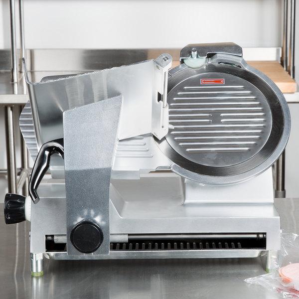 "Avantco SL512 12"" Manual Gravity Feed Meat Slicer - 1/2 hp"