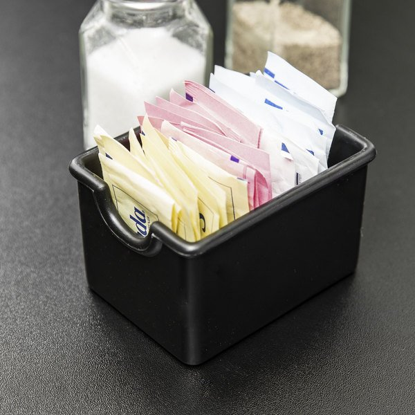 Black Plastic Sugar Caddy