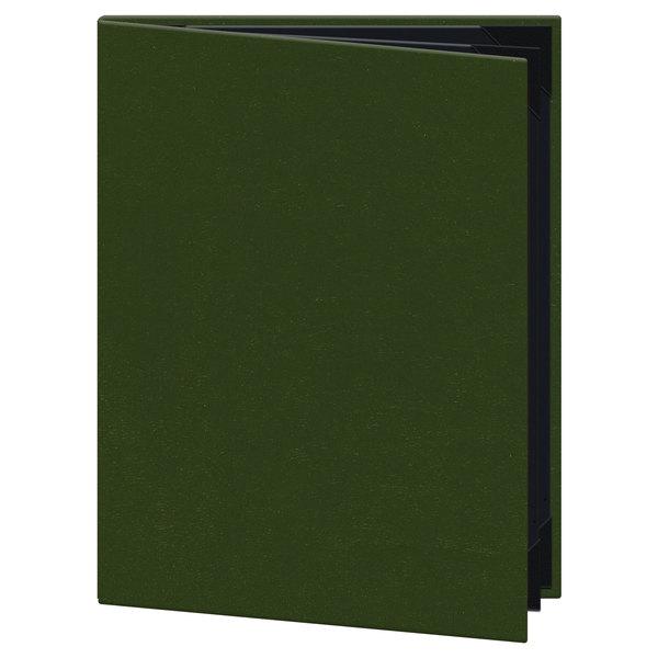 H Risch Inc Om 4v Oakmont 8 12 X 11 4 Panel Green Menu Cover