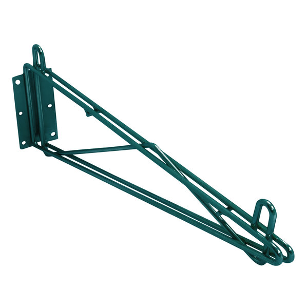 """Eagle Group WB24-VG 24"""" Deep Wall Mounting Bracket for Green Epoxy Wire Shelving"""