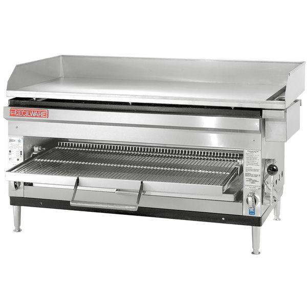 """Cecilware HDB2031 31"""" Combination Gas Griddle and Cheese Melter with Adjustable Rack - 60,000 BTU"""