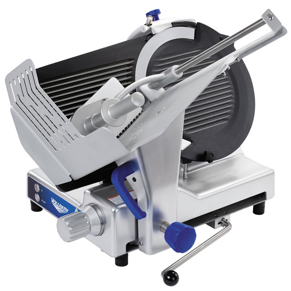 "Vollrath 40955 13"" Heavy Duty Deluxe Meat Slicer with Safe Blade Removal System - 1/2 hp"