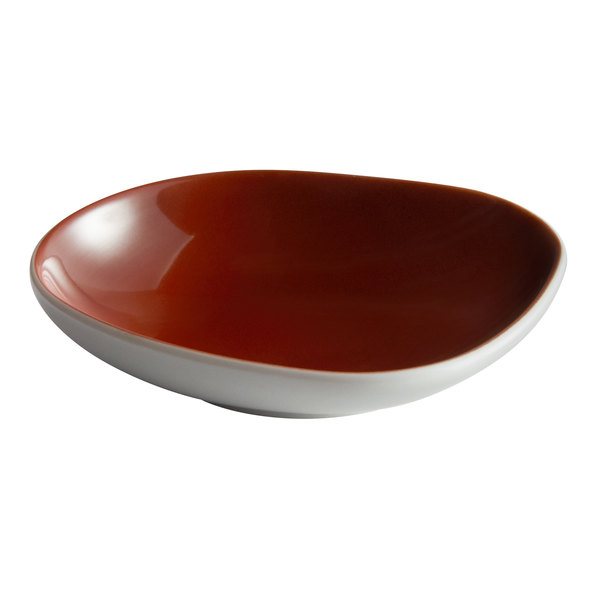 "Schonwald 9385709-63010 WellCome 3 1/2"" Red Porcelain Organic Dip Dish - 24/Case Main Image 1"
