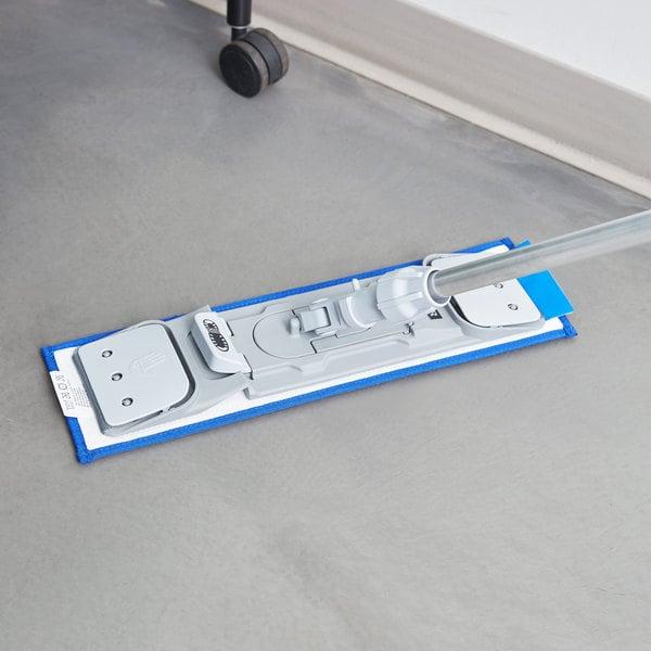 "Unger DM40B SmartColor 16"" Blue Damp Mop Pad"