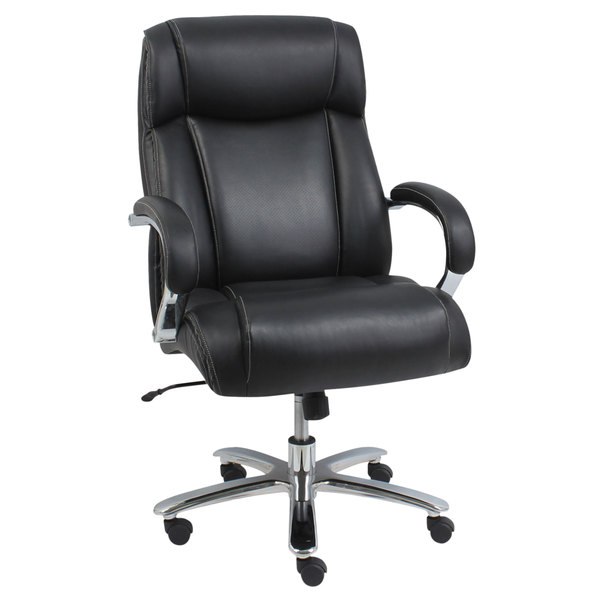 Pleasing Alera Alems4419 Maxxis Series 500 Lb Capacity Black Leather Big And Tall Office Chair Interior Design Ideas Inesswwsoteloinfo