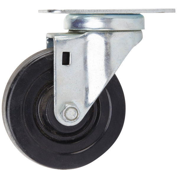 "Avantco 17819301 4"" Swivel Plate Caster"
