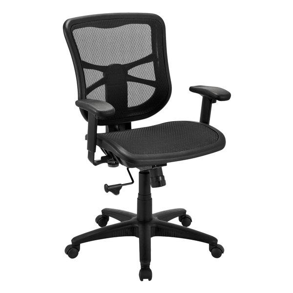 Alera Aleel42b18 Elusion Series Mid Back Black Air Mesh Swivel Tilt Office Chair