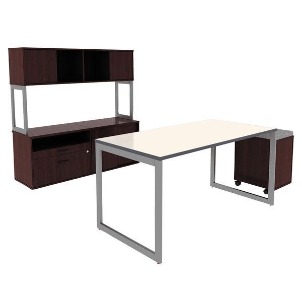 Alera Alett6030wg 60 X 30 White Gray Rectangular Reversible Laminate Table Top