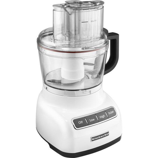 KitchenAid KFP0922WH White 9-Cup Food Processor