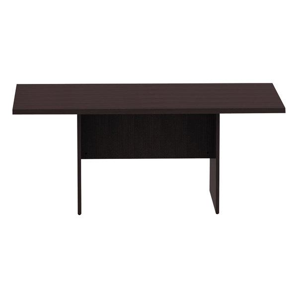 """Alera ALEVA717242ES Valencia 70 7/8"""" x 41 3/8"""" x 29 1/2"""" Espresso Rectangular Conference Room Table"""