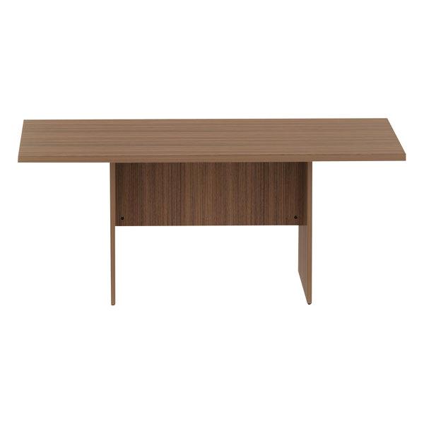 "Alera ALEVA717242WA Valencia 70 7/8"" x 41 3/8"" x 29 1/2"" Modern Walnut Rectangular Conference Room Table"
