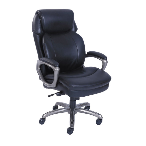 Serta 48965 SertaPedic Cosset High-Back Black Leather Executive Office Chair Main Image 1