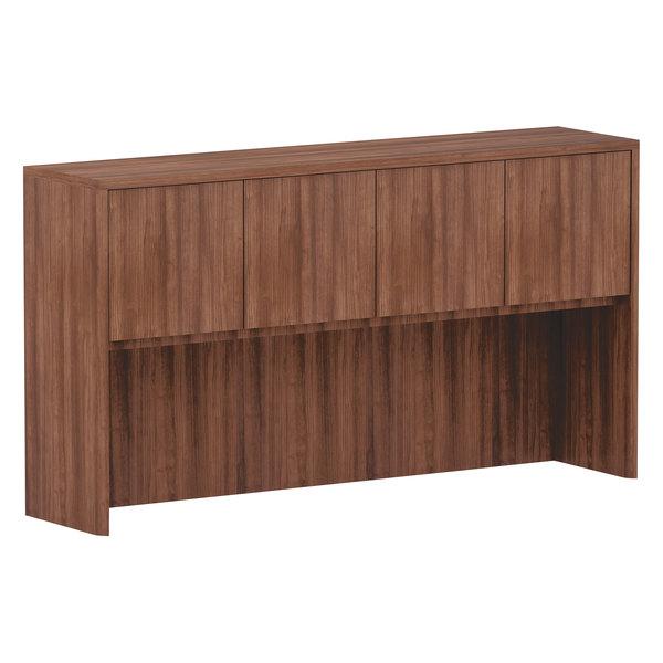 """Alera ALEVA286615WA Valencia Walnut 4 Compartment Bookcase Hutch - 65"""" x 35 1/2"""" x 15"""""""