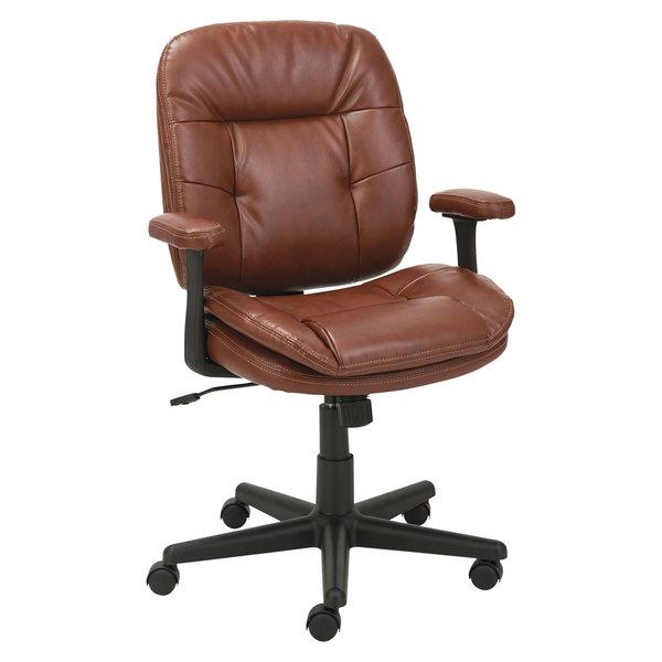Oif St4859 Chestnut Brown Leather Swivel Tilt Office Chair