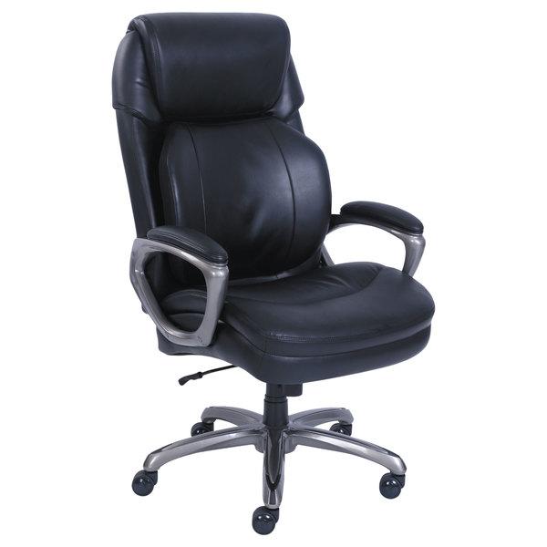 Serta 48964 SertaPedic Cosset Big and Tall Black Leather Executive Office Chair Main Image 1