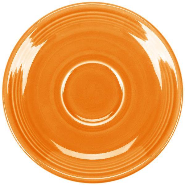 """Homer Laughlin 470325 Fiesta Tangerine 5 7/8"""" Saucer - 12/Case"""