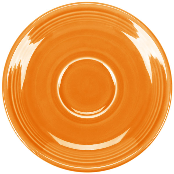 "Fiesta Tableware from Steelite International HL470325 Tangerine 5 7/8"" China Saucer - 12/Case Main Image 1"