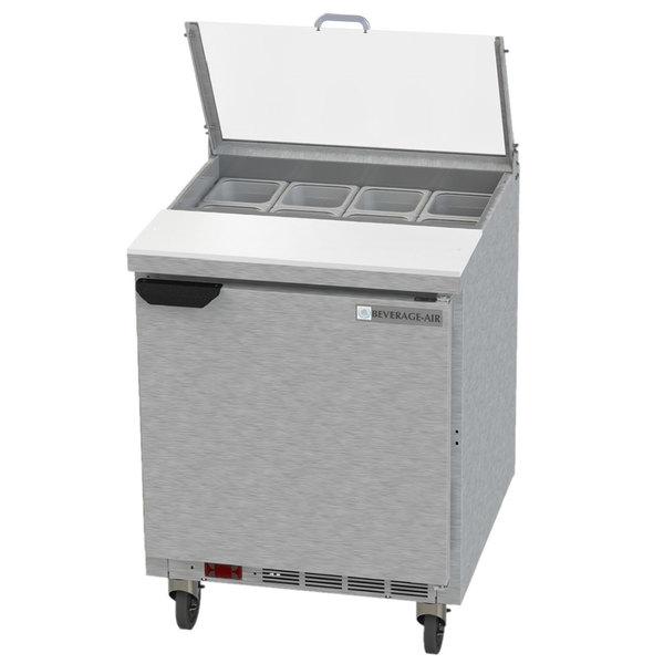 "Beverage-Air SPE27HC-B-CL Elite 27"" 1 Door Refrigerated Sandwich Prep Table"