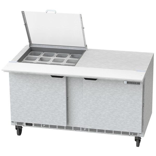 "Beverage-Air SPE60HC-12M-CL Elite 60"" 2 Door Mega Top Refrigerated Sandwich Prep Table"