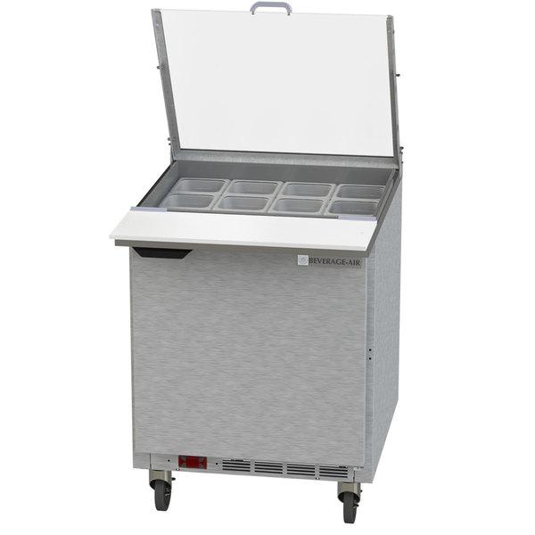 "Beverage-Air SPE27HC-12M-B-CL Elite 27"" 1 Door Mega Top Refrigerated Sandwich Prep Table"
