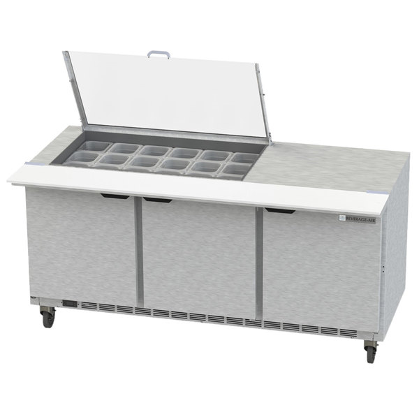 Awesome Beverage Air Spe72Hc 18 Cl Elite 72 3 Door Refrigerated Sandwich Prep Table Home Remodeling Inspirations Genioncuboardxyz