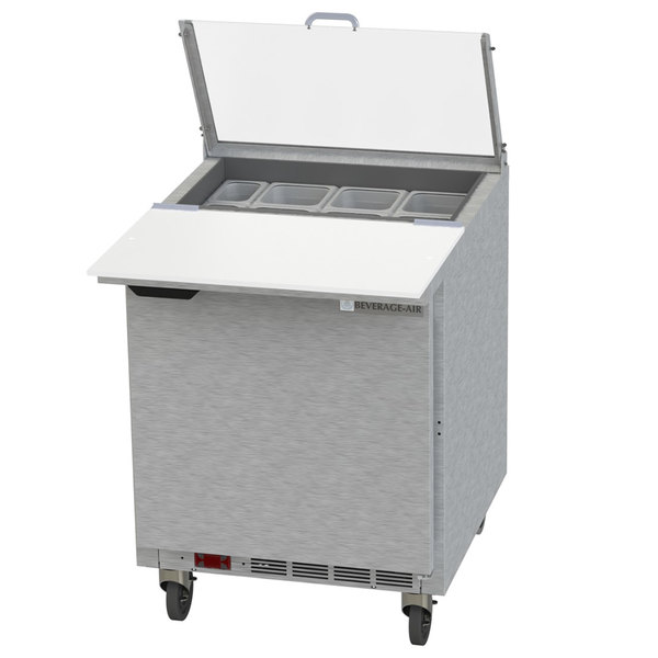 Wondrous Beverage Air Spe27Hc C Cl Elite 27 1 Door Refrigerated Sandwich Prep Table With 17 Deep Cutting Board And Clear Lid Download Free Architecture Designs Lukepmadebymaigaardcom