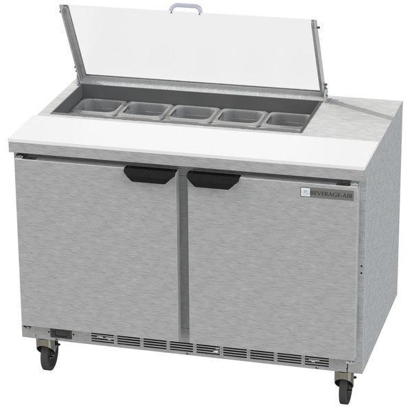 "Beverage-Air SPE48HC-10-CL Elite 48"" 2 Door Refrigerated Sandwich Prep Table"