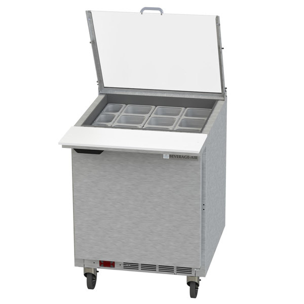 "Beverage-Air SPE27HC-12M-CL Elite 27"" 1 Door Mega Top Refrigerated Sandwich Prep Table"