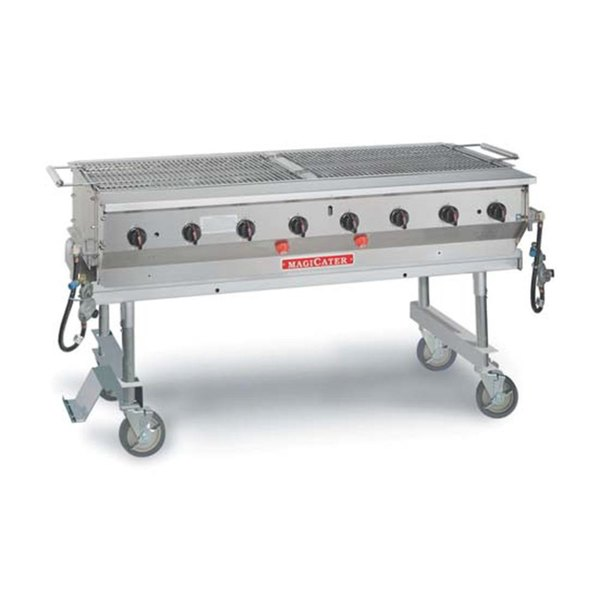 MagiKitch'n LPG60-SS Stainless Steel MagiCater 60 inch Portable LP Gas Outdoor Grill