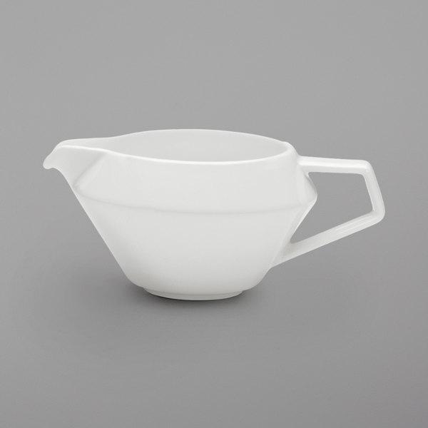 Schonwald 9403810 Connect 3.75 oz. Continental White Porcelain Sauce Boat - 12/Case Main Image 1