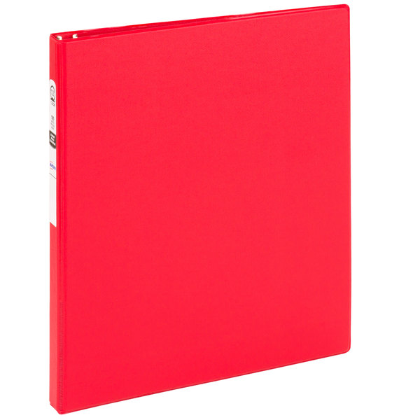 Avery 03210 Red Economy Non-View Binder with 1/2 inch Round Rings