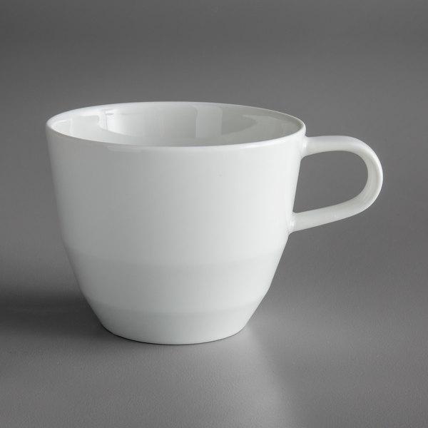 Schonwald 9125169 Allure 6.38 oz. Bone White Porcelain Tall Cup - 12/Case