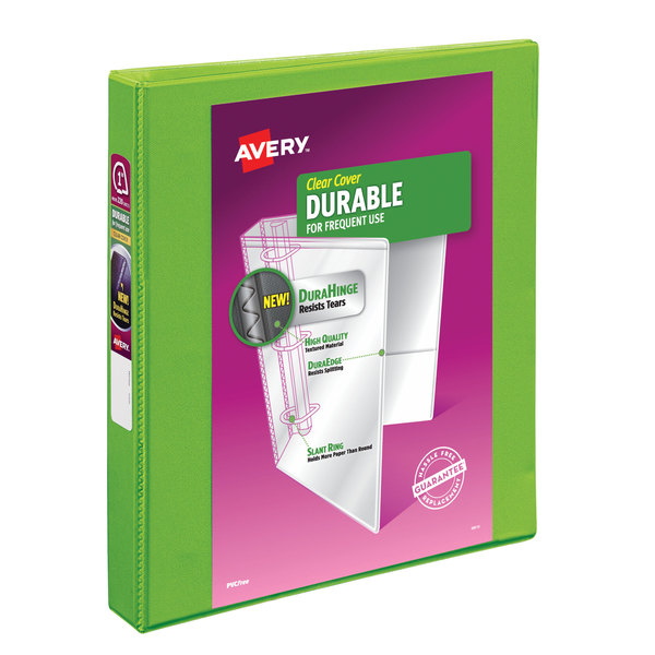 "Avery 17832 Green Durable View Binder with 1"" Slant Rings Main Image 1"