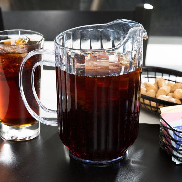 Choice 60 oz. Clear SAN Plastic Beverage Pitcher