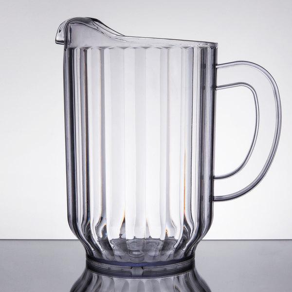 choice 60 oz clear san plastic beverage pitcher. Black Bedroom Furniture Sets. Home Design Ideas