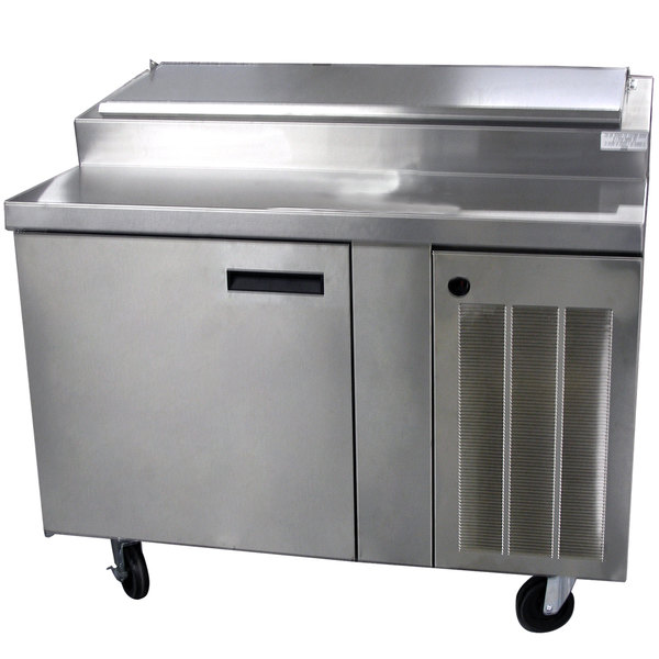 "Delfield 18648PTBM 48"" One Door Refrigerated Pizza Prep Table"