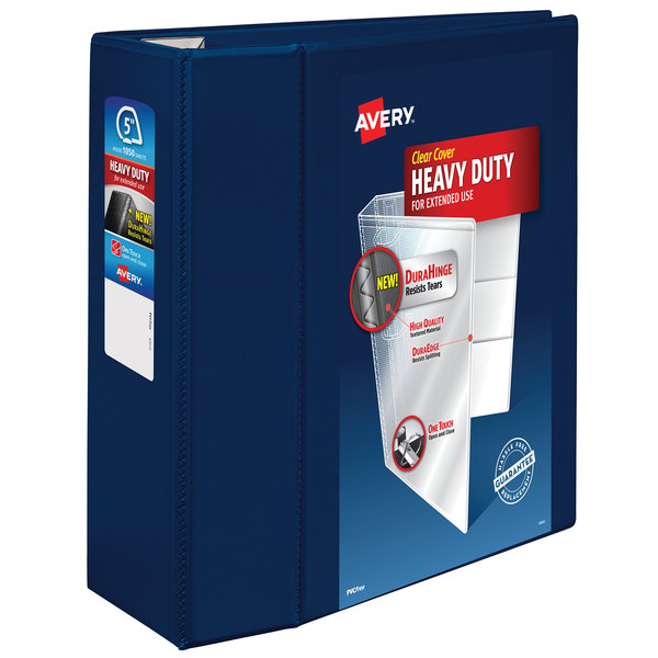 """Avery 79806 Navy Blue Heavy-Duty View Binder with 5"""" Locking One Touch EZD Rings"""