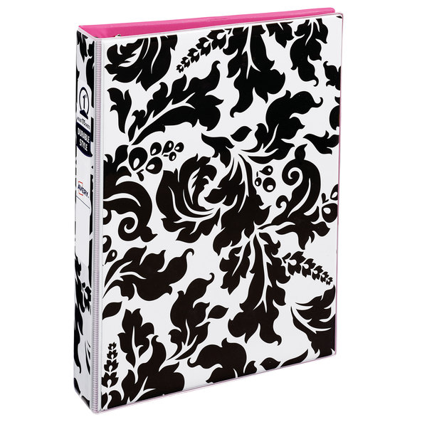 """Avery 18700 Mini Durable Damask Non-View Binder with 1"""" Round Rings"""