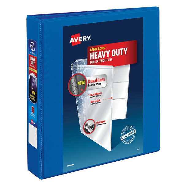 """Avery 79722 Pacific Blue Heavy-Duty View Binder with 1 1/2"""" Locking One Touch Slant Rings Main Image 1"""
