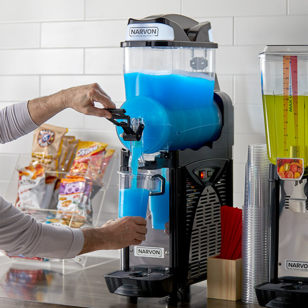Narvon SM261 Single 2.6 Gallon Pourover Granita / Slushy / Frozen Beverage Dispenser - 120V Main Image 4