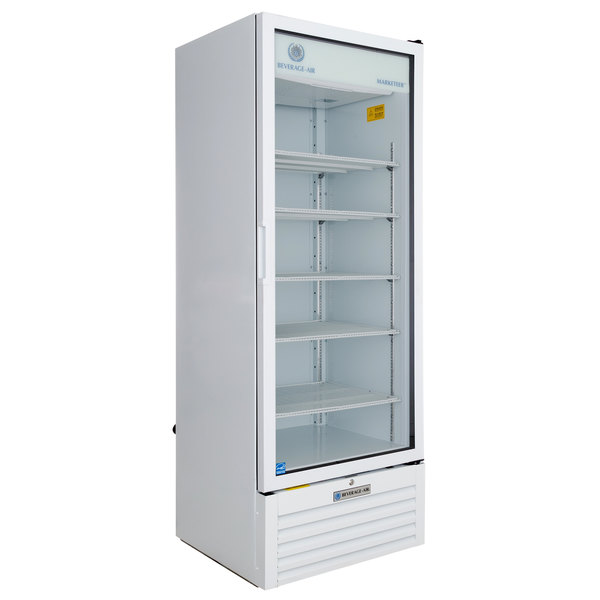 Beverage-Air MT23-1W 29 1/2 inch Marketeer Series White Refrigerated Glass Door Merchandiser with LED Lighting